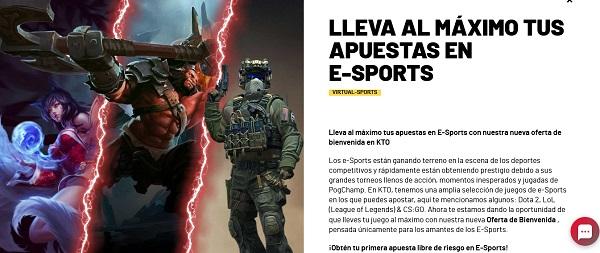 promo esports kto
