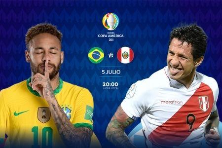 Brasil vs Perú en la semifinal de la Copa América